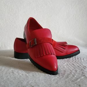 Women red shoes